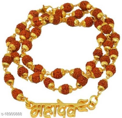 Mahadev Pendant Locket Witrh Original Panchmukhi Rudraksh Mala Rare Collection  8mm 36 beads for mens,womens and unisex pack of 1
