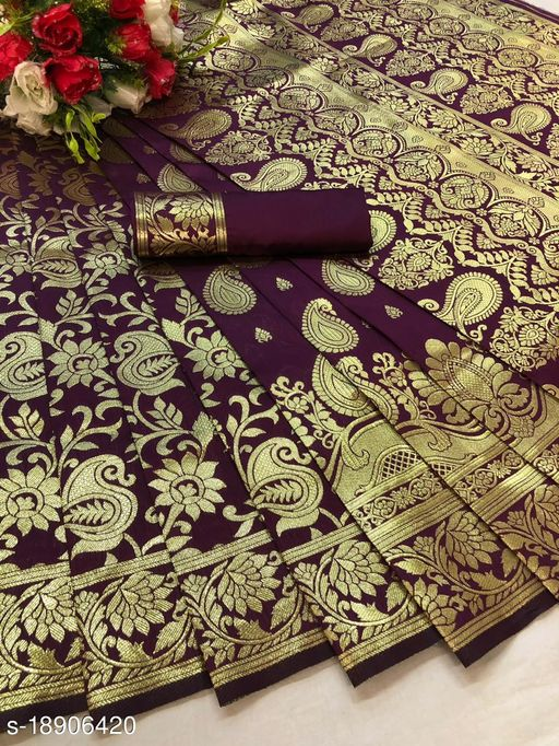 SOFT KANCHIPURAM SILK CLOTH  WITH BEAUTIFUL RICH PALLU