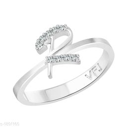Women's Studded Silver Plated Rings