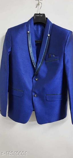 Fashion villa mens Blazer full sleeves blue FVMENBLZ02-38