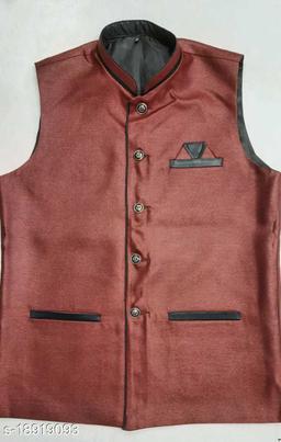 Fashion villa mens eathnic wear jacket Brown FVMEW004-38