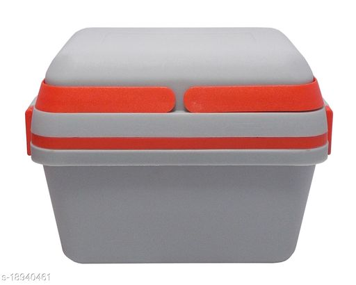 Kotak Sales Perfect Lunch Box 1100ML & 500ML Fresh Tasty Meal 2 Layer Container 2 Push Lock Leak Proof Plastic Storage Food Grade Tiffin with Handle Office Executive Kids School Travel Use (Grey)