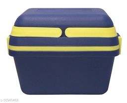 Kotak Sales Perfect Lunch Box 1100ML & 500ML Fresh Tasty Meal 2 Layer Container 2 Push Lock Leak Proof Plastic Storage Food Grade Tiffin with Handle Office Executive Kids School Travel Use (Blue)