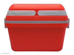 Kotak Sales Perfect Lunch Box 1100ML & 500ML Fresh Tasty Meal 2 Layer Container 2 Push Lock Leak Proof Plastic Storage Food Grade Tiffin with Handle Office Executive Kids School Travel Use (Red)