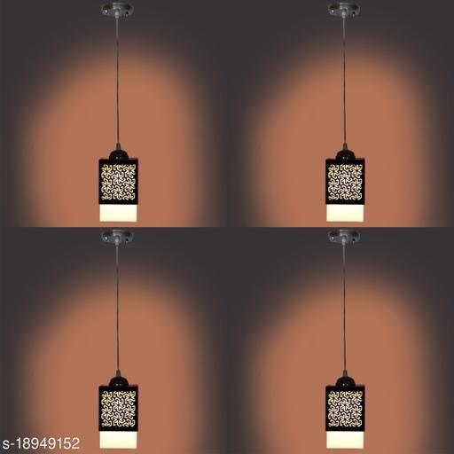 Gojeeva  Wooden Style Hanging Lamp Creative Wood Pendant Light Lamp Suitable for Living Room,Foyer,Bedroom,Hallway Pendants Pendants Ceiling Lamp(Pack of 4)