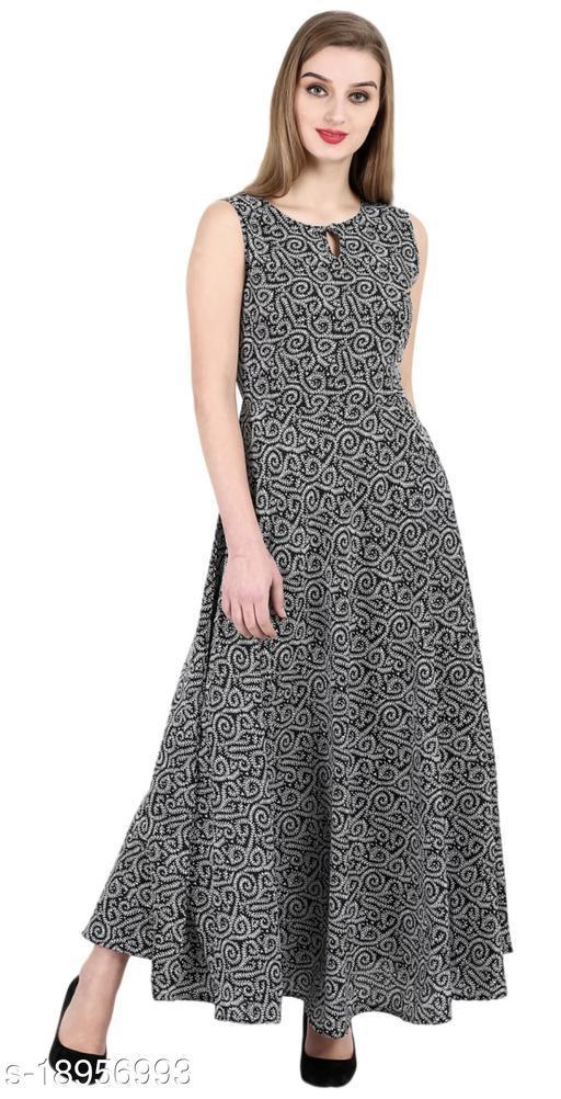 AMERICAN CREPE ANARKALI DRESSES