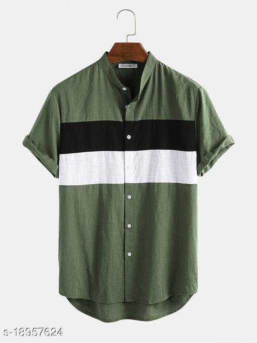 Men's Premium Poly Cotton Printed Half Sleeve Shirt :- AP - 0023