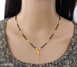 Bhumi09 Gold Plated Mangalsutra For Women