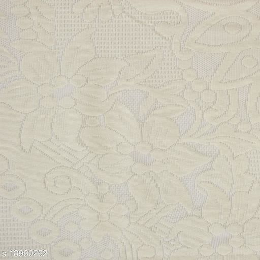 Net Cotton 4 Seater Table Cover(Size-60 Inch Round)Cream Color