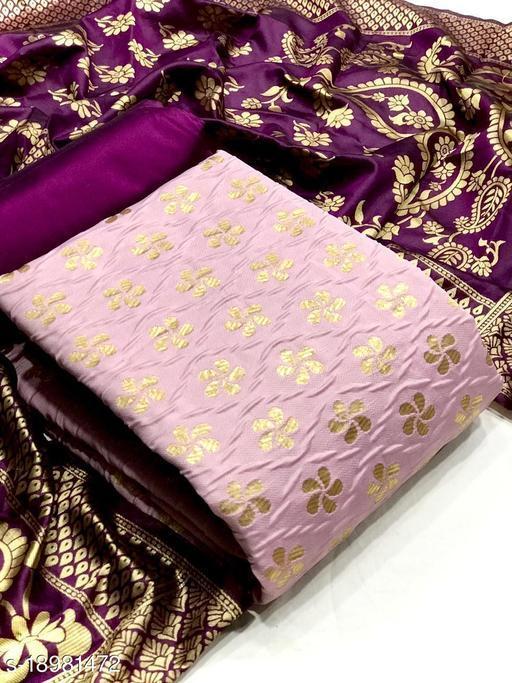 Banarasi silk salwar suit dress material with dupatta