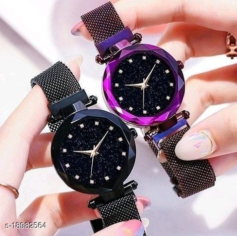 Classic Magnet 12 Point Combo Watch For Women