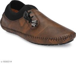 Mr Men Brown Casual Loafers For Men