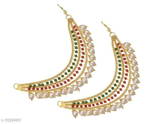 Mallepula Trendy Ruby Stone,Crystal Stone and CZ Stone Micro Gold Plated Earrings Collection for Women and Girls