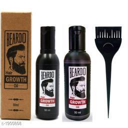 Premium Choice Hair Beard Oil With Brush ( Pack Of 3 )