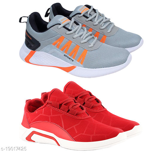 Birde Sports Running and Walking Shoes For Men Pack of 2