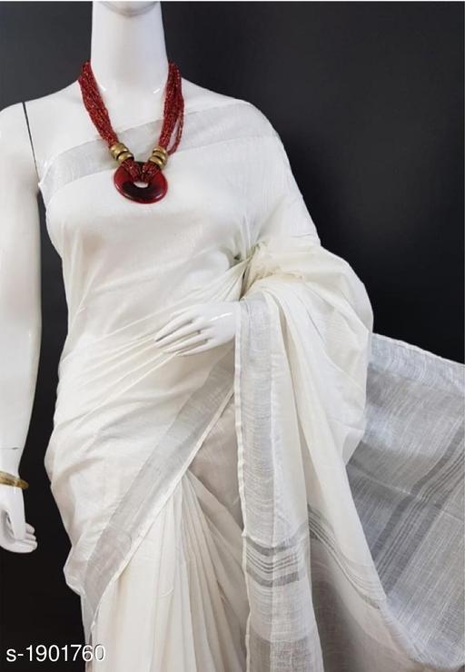 Attractive Slub Cotton Women's Saree