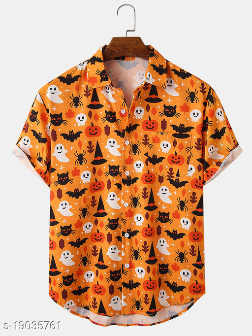 Men's Premium Poly Cotton Printed Half Sleeve Shirt :- MN - 0029