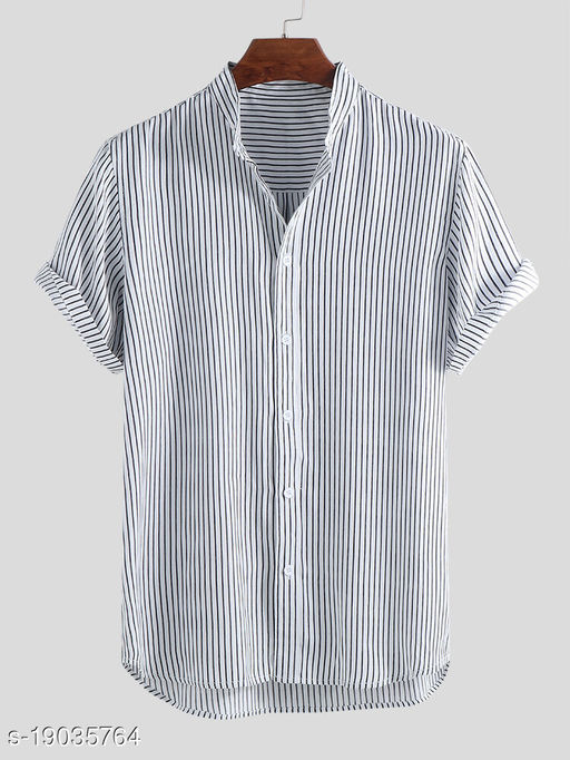 Men's Premium Poly Cotton Printed Half Sleeve Shirt :- MN - 0034