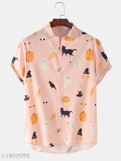 Men's Premium Poly Cotton Printed Half Sleeve Shirt :- MN - 0022