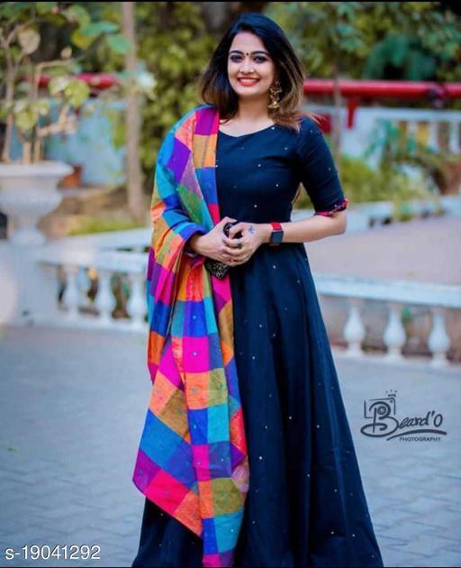 Designer Blue Rayon Anarkali Kurti