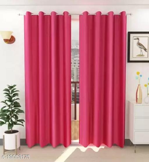 Dream Decor 7ft Door curtain (Set of 2)