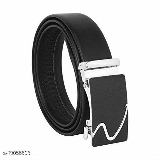 Women Black Artificial Leather Belt