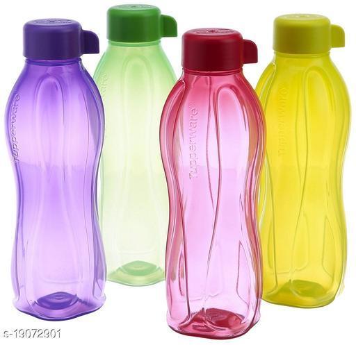 TECHVILLA-FRIDGE BOTTLE Plastic Pet Bottle, 1 Litre, Set of 4, MULTICOLOR also viewed