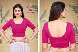 Stretchable Solid Cotton Lycra Stitched Blouse