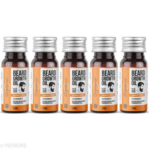 Beard Growth Oil-14 Nourishing Oils For Stronger, Fluffier & Shinier Beard 30 ml (Pack Of 5)  Made in India