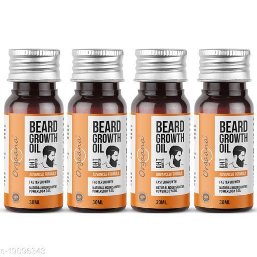 Beard Growth Oil-14 Nourishing Oils For Stronger, Fluffier & Shinier Beard 30 ml(Pack Of 4)   Made in India