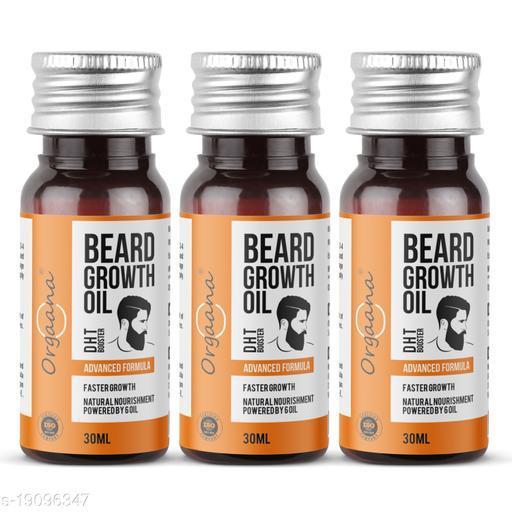Beard Growth Oil-14 Nourishing Oils For Stronger, Fluffier & Shinier Beard 30 ml(Pack Of 3)   Made in India