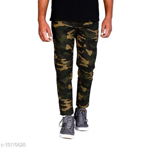 Designer Cotton Blend Men Trousers