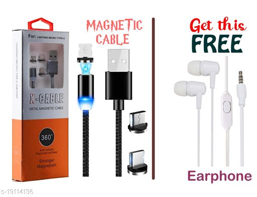 Magnetic 3 in 1 USB data cable oppo data cable vivo data cable mi data cable realme data cable samsung data cable micro usb data cable