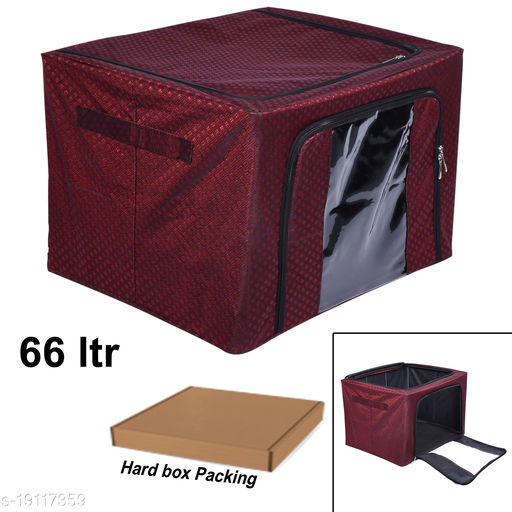 66 Liter Royal red Matty Storage Box with SS stand