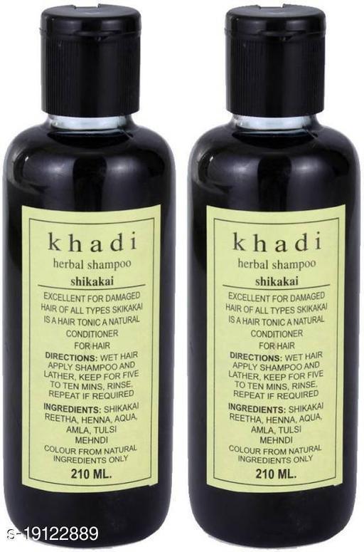 Khadi Herbal Herbal Shikakai Shampoo Pack of 2  (420 ml)