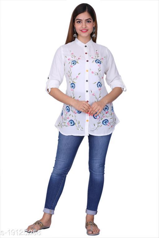 JVF Stylish Rayon Women's Tunics