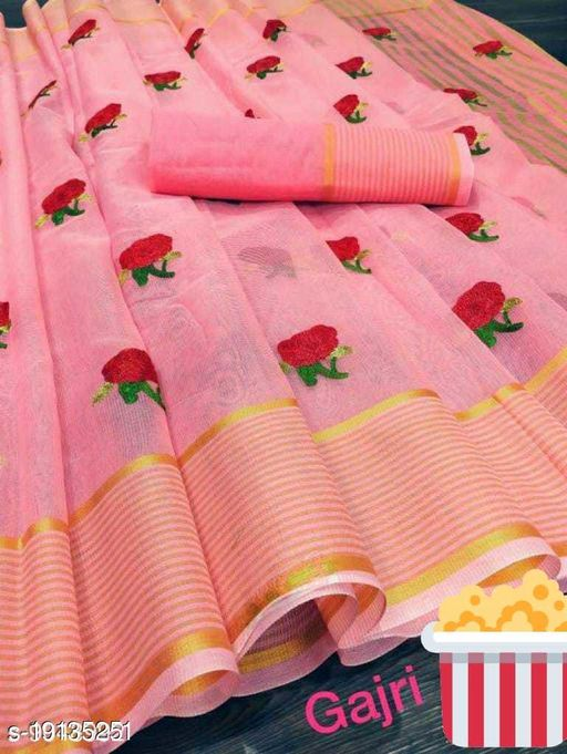 Amazing soft cotton saree with complete thread work