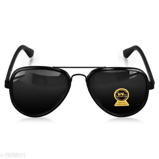 Lorenz Black Aviator Sunglasses for Men & Boys (Lens-Black  Frame-Black)   SN-5