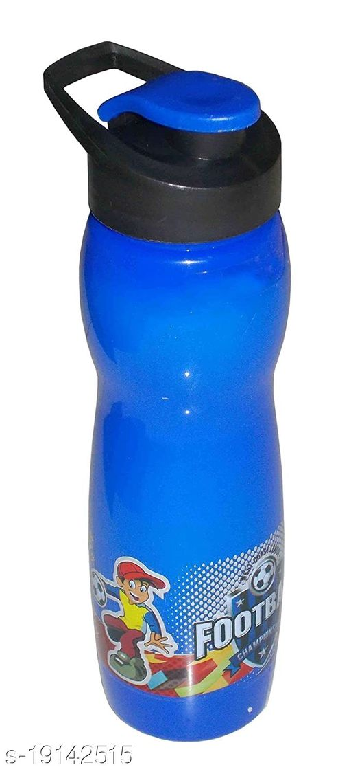 Kotak Sales Cartoon Water Bottle 600ML Flip N Drink Nozzle BPA-Free Food Grade Material for Juice Milk Home Office Event Christmas Decoration Perfect Return Gift for Kids Birthday Party (Blue)