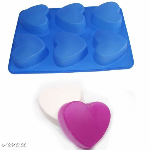 Perfect Pricee 1 Pc Silicone 6 Cavity Heart Cake Mould Chocolate Soap Mould Baking Mould Soap Making Candle Craft (Heart Mould)
