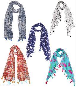 Raiter Women Cotton Blend Printed Fancy Scarf ( Widht : 70cm, Length : 172cm )
