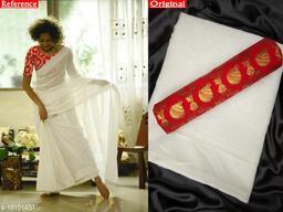 Fashionable Women Chanderi Cotton Sarees