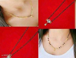 Women's 4 Pcs Combo Mangalsutra with necklace