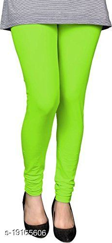 Parrot green -  trendy latest Ultra Soft Cotton Churidar Solid Regular and Plus 45 Colours Leggings for Womens and Girls.100% cotton and 100% gaurantee.