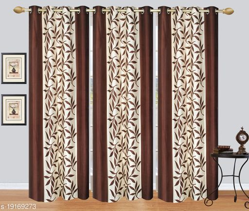 Curtains long door 9 feet 3 set