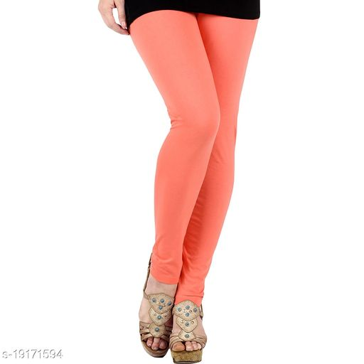 Light peach gajri colour - trendy latest Ultra Soft Cotton Churidar Solid Regular and Plus 45 Colours Leggings for Womens and Girls.100% cotton and 100% gaurantee.