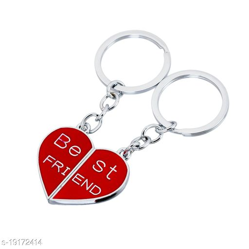 Advikavya Best Friend Friendship Day Gift Magnetic Red Metallic Keyring Key Chain