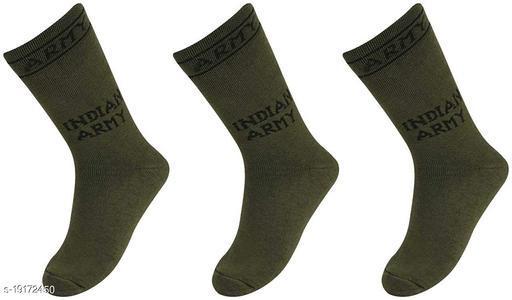 AXOLOTL Army socks Mid Calf Length (Pack of 3 Pair)