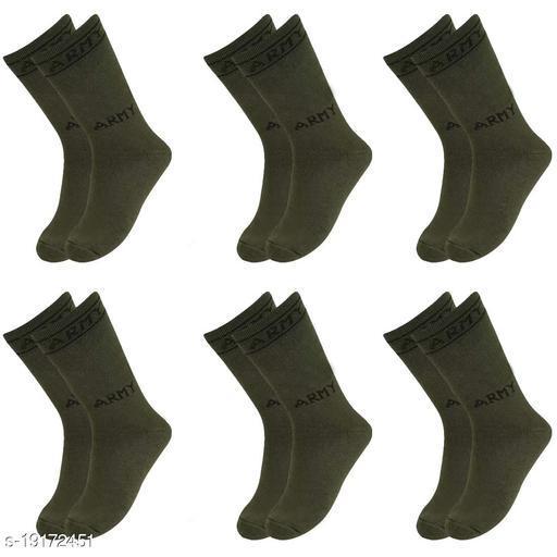 AXOLOTL Army socks Mid Calf Length (Pack of 6 Pair)
