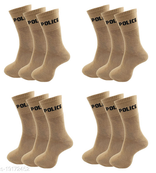 AXOLOTL Police socks Mid Calf Length (Pack of 6 Pair)
